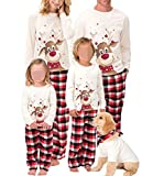 Family Christmas Pjs Matching Sets Baby Christmas Matching Jammies for Adults and Kids Holiday Xmas Sleepwear Set (A Style , Mom/Medium )