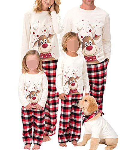 Family Christmas Pjs Matching Sets Baby Christmas Matching Jammies for Adults and Kids Holiday Xmas Sleepwear Set (A Style , Mom/ Large )