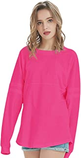 Women's Crewneck Pom Pom Pullover Jersey Youth Long Sleeve Baseball Tops