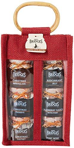 Mrs Bridges Christmas Tasting Set 6 Jar Jute Bag
