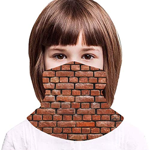 Brick Wall Texture Boys Girls Face Mask Bandanas Neck Gaiter Cooling Kids Face Scarf Cover Uv Protection Headband Outdoors Dustproof Balaclava