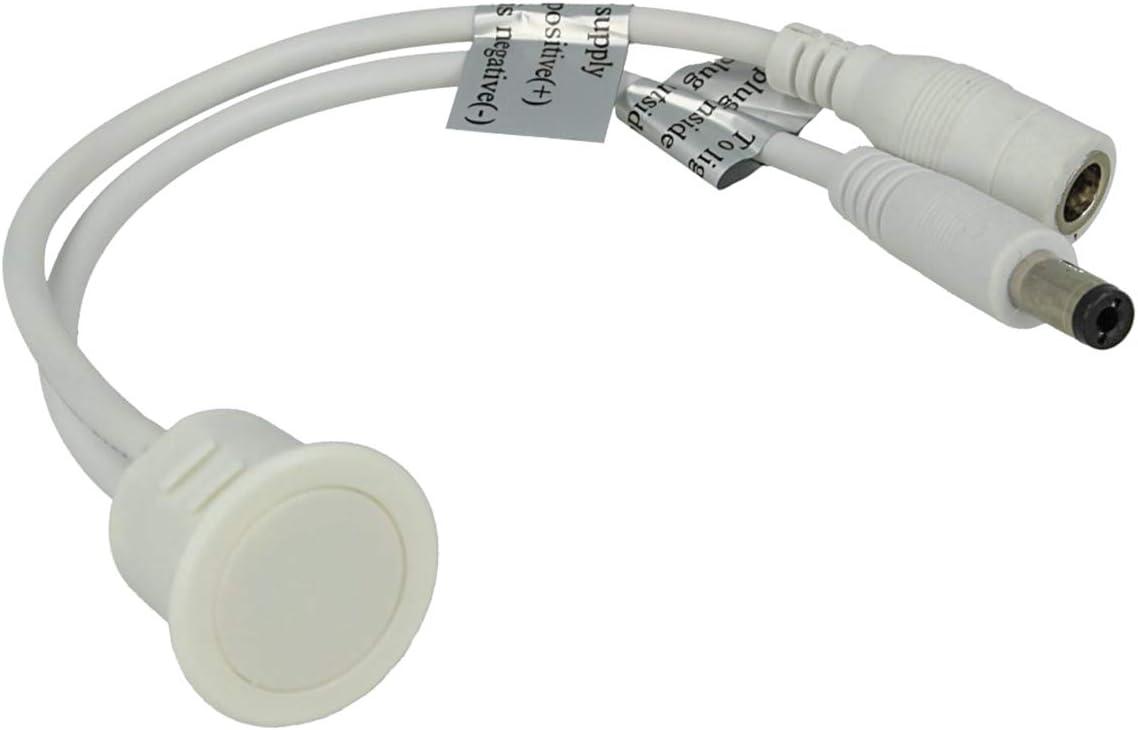 Interruptor Con Regulador de Intensidad Táctil Led Para Empotrar, Color Blanco