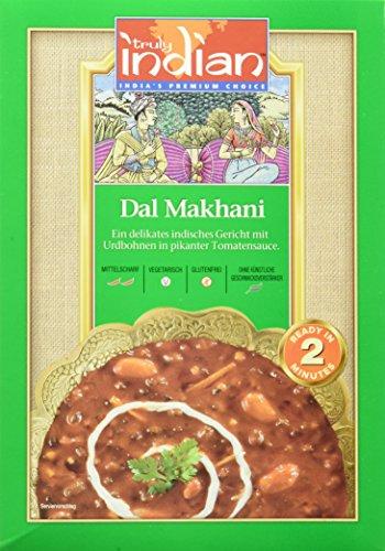 TRULY INDIAN Delhi Dal Makhani, Indisches Fertiggericht mit schwarzen Linsen und mittelscharfer Tomatensauce (6 x 300 g)