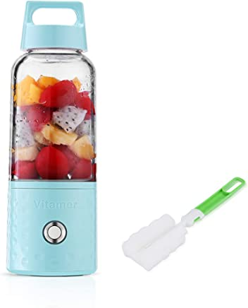 Portable Rechargeable Juice Blender, Household Fruit Mixer, Huafly Personal Blender 500ml USB Juicer Cup for Home, Outdoors and Travelling
