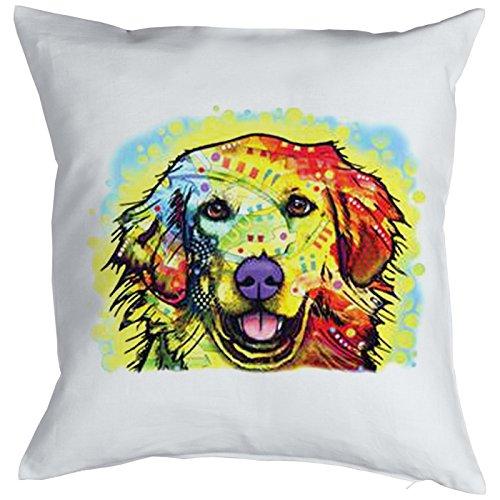 Golden Retriever Pillow, oreiller, almohada, Cuscino Pop Art Style