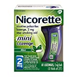 Nicorette 2mg Mini Nicotine Lozenges to Quit Smoking - Mint Flavored Stop Smoking Aid, 81 Count