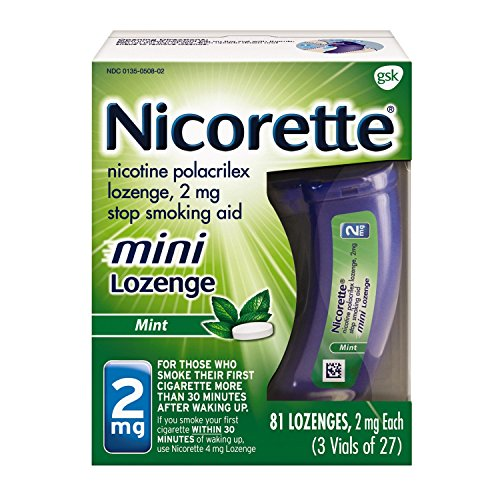Nicorette 2mg Mini Nicotine Lozenges to Quit Smoking - Mint Flavored Stop Smoking Aid