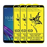 Kreatick® 6D Glass Screen Protector Compatible with Asus Zenfone Pro M1 (Pack of 3) Tempered Glass with Touch Accurate, Impact Absorb, Auto-Align Technology, Case Friendly