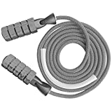 Jump Rope Weighted Fitness Workout Boxing Excersize Heavy Skipping Rope 11oz Weight 9mm Cotton...