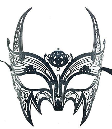 New Wolverine Men's Mask Laser Cut Venetian Halloween Masquerade Mask Costume Extravagant Inspire Design - Black