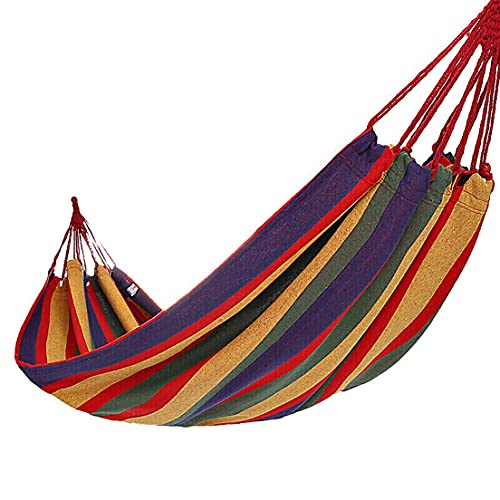 ZNOUSH Amaca da Campeggio, Comodo Tessuto Amaca Design Anti-Rollover con Borsa da Viaggio, Perfetta per Il Campeggio all'aperto/Patio Interno Cortile (Color : Red)