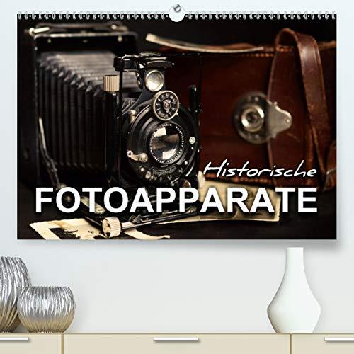 Historische Fotoapparate (Premium, hochwertiger DIN A2 Wandkalender 2021, Kunstdruck in Hochglanz)