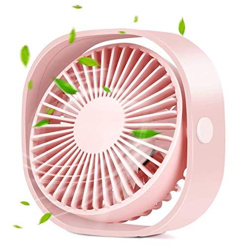 XYL Ventilatore USB Desktop Desktop Piccola Personale Portatile Mini Disegno Ventola silenziosa a 3 velocità Rosa