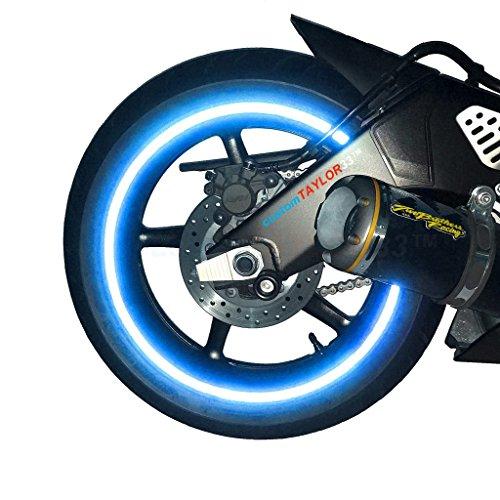 """customTAYLOR33 (Alle Fahrzeuge Blau Hohe Intensität Reflektierend Sicherheit Felgenbänder, 17""""(Felgengröße für die meisten Sport Motorräder)"""