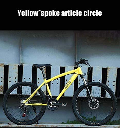 MYPNB BMX Adultos 24 Pulgadas de Bicicletas de montaña, Doble Disco de Freno de Bicicletas de Velocidad Variable, Playa de Motos de Nieve de Bicicletas, Ruedas de aleación de Aluminio 5-25