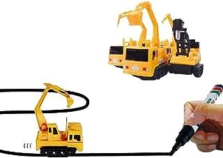 feileng  マジック車 マシーンメーカー マジックロードカー 作業車  車セット 玩具車 知育玩具 おもちゃ 電気画線誘導車 子供プレゼント 入園 ギフト