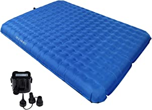 KingCamp 2 Person Air Mattress, Ultra Light PVC-Free Inflatable Comfortable Damp-Proof Sleeping Pad for Home and Camping, Battery Operated Pump Included