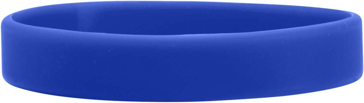 WristCo 1//2 Silicone Rubber Wristbands Black 12 Count