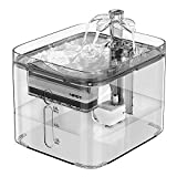NPET Cat Water Fountain, 3L Automatic Pet Drinking Fountain Dog Water Dispenser with Quadruple-Action Filter (WF020 Transparent)