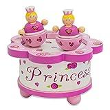 Boite à musique princesse Lucy Locket - Boite à musique en bois rose avec figurines aimantées - Boîte à musique pour enfant