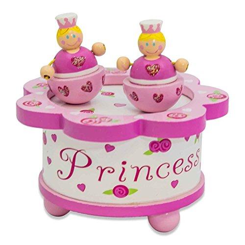 """Lucy Locket """"Prinzessin"""" Spieluhr für Kinder mit tanzender Figur – Rosa Musikspieluhr aus Holz mit magnetischer Figur – Schöne Spieluhren"""