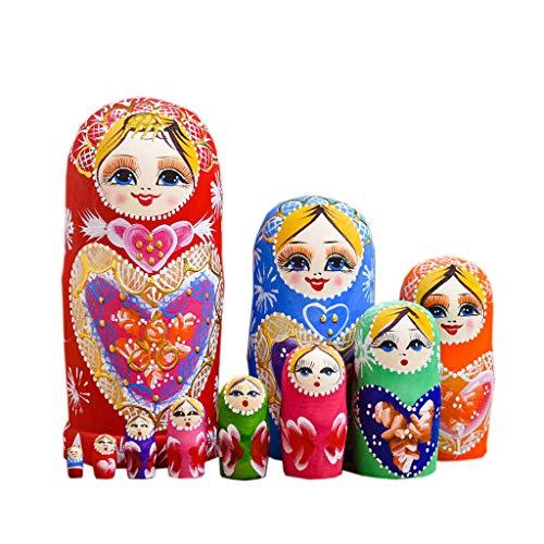 lijun 10 Schichten/Set Matroschka Holz Russische Nistpuppe Kinder