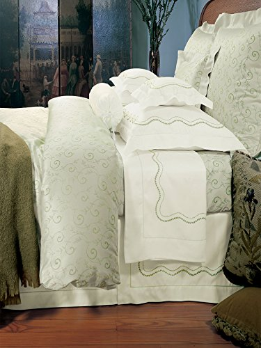 Cheapest Price! Schweitzer Linen Laurel Shams, Salmon on Ivory (Euro, Each)