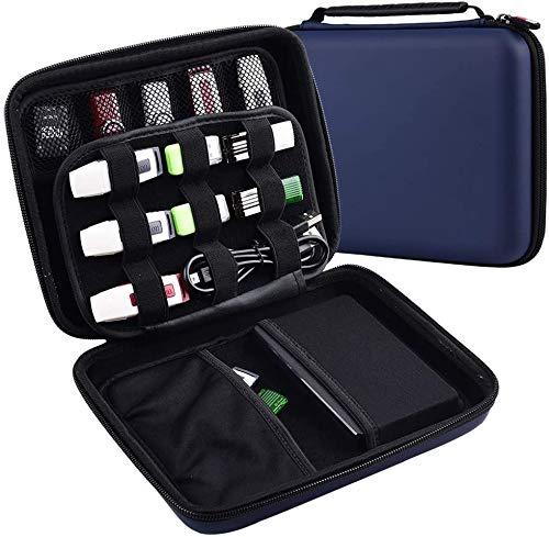 ALKOO USB Sticks Tasche, Speicherstick Organizer Aufbewahrungs für SD Karte, Speicherkarten, Ladekabel. Schutzhülle Organizerhalter für Sandisk/Thumb/WD und Flash-Laufwerk