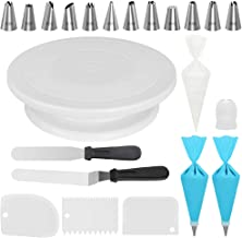 Kootek Cake Decorating Kits Supplies with Cake Turntable, 12 Numbered Cake Decorating..