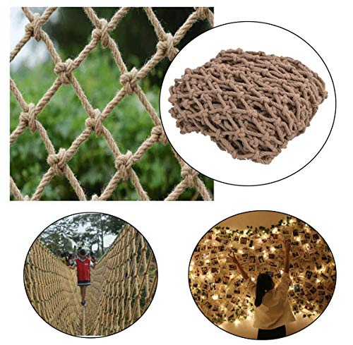 Hanfseil klettert das Netz, Seildurchmesser 10mm Abgehängte Deckennetze, Gartendekoration Netz Kindertreppenbalkon Anti-Fall-Netz Zaun Fotowand Kleidungsnetz, Multi-Größe ( Size : 1*10m(3*33ft) )