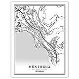 NBHHDH Leinwand Bild,Nordic Schweiz Montreux Stadt Drucken