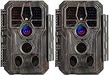 Camo-A280 - Cámara de caza (2 unidades, 20 Mpx, 1080p, resistente al agua, visión nocturna)