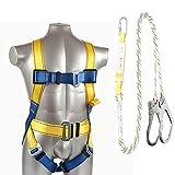 Wing Arnés de Seguridad Trabajo, Arnés de Escalada Alpinismo Profesional Cuerda Equipo Escalada Ajustable Al Aire Libre Cinturón Seguridad de Rescate protección Seguridad Personal