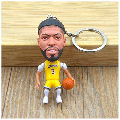 JZYZSNLB Llavero Muñeca de Baloncesto Llavero Mini Figuras de Juguete Collectable Resina Llavero Llavero Colgante - Gran Regalo para Las Estrellas de Baloncesto Fans (Color : DWS 1)