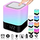 StillCool Bluetooth Lautsprecher Wecker 5 in 1 LED Touch Dimmbar Wecker Digital MP3-Player,...