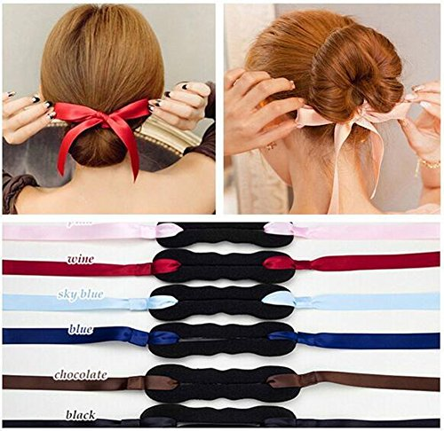 Magisches Haarband / Bunmaker, für Dutts, Donuts etc., Haarschmuck, 3 St.