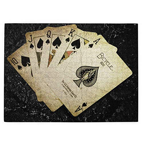 Tarjetas Paint Poker Rompecabezas para niños, 1000 piezas, adecuado para el desarrollo intelectual de los niños