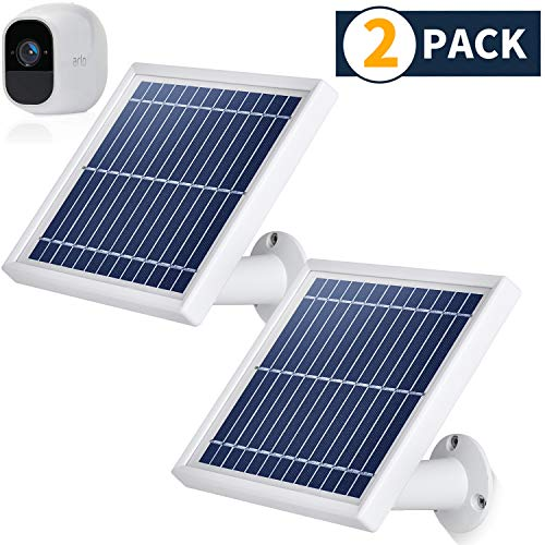 Best Prices! iTODOS 2 Pack Solar Panel Compatible with Arlo Pro 2, 11.8Ft Outdoor Power Charging Cab...