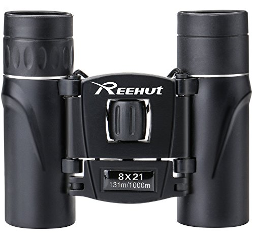 REEHUT 8 X 21 Delicate Compact HD Binoculars for Concert Match Theater Opera, Mini Pocket Folding Binoculars for Travel Sightseeing Hiking Bird Watching Adults Kids