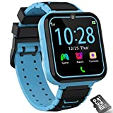 Kids Smart Watch, Music Game Smartwatch Phone for Kids, Two Way Calling/SOS/Camera/Video/Alarm/Calculator/Flashlight, HD Touch Screen Children Watch Toys for Boys Girls Age 3-12 Birthday Gift (Blue)