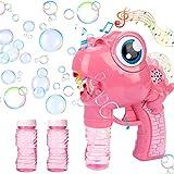 GUBOOM Macchina per bolle di sapone bambini, pistola per bolle di sapone dinosauro, giochi da giardino per bambini, con bottiglia di ricarica, per feste all'aperto, matrimoni, feste estive
