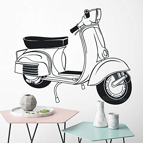 Zhuzhuwen Muursticker voor hal trappenvespa Art-scooter Vespa Lounge Mod Motorfiets Home Integirl slaapkamer achtergrond vinyl accessoires design muurschildering 68X56Cm