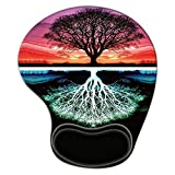 Tree Ergonomic Gaming Mouse Pad with Wrist Support, Pain Relief Non-Slip Rubber Base Mousepad for Laptop, Mouse Pads as Home Office Desktop Accessories Decor or Ideal Gift