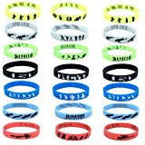 21 PCS Gaming Party Supplies Pulsera de Silicona, Tema de Videojuegos Birthday Party Supplies favorece Las Pulseras para niños, Glow IN The Oscuro