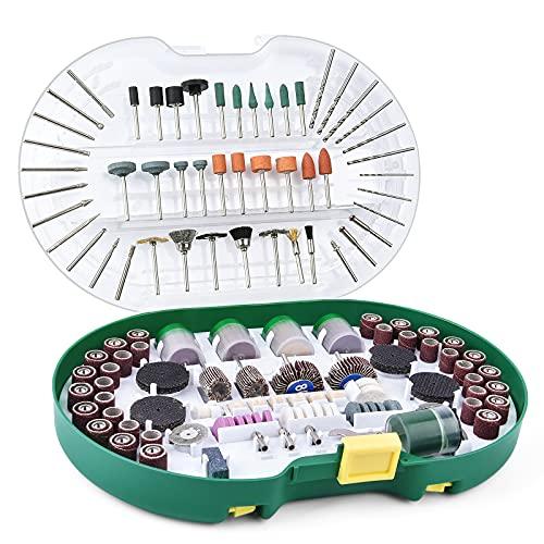 VIGRUE Rotary Tool Accessories Kit, 398PCS Rotary Tool Accessories Set, Grinding Polishing Drilling Cutting Kits, 1/8