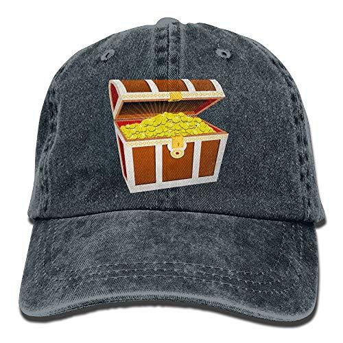 angwenkuanku Unisex Schatzkiste Baseball Cap Denim Stoff Hut verstellbare Snapback Outdoor Sports Cap wunderschöne 10030