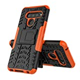 QULLOO LG V50 ThinQ Case, Soft TPU 2 in 1 with PC Kickstand