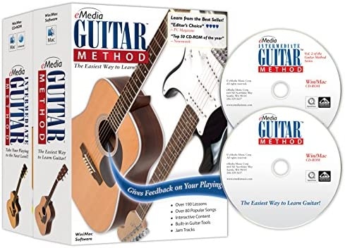eMedia Guitar Method Deluxe v6 0 2 CD Rom Set Beginner and Intermediate Interactive Instruction product image