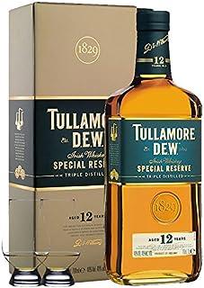 Tullamore Dew 12 Jahre mit 2 Glencairn Gläsern