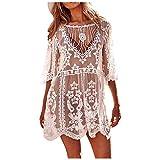 Traje de baño Vestido de Playa Crochet de Moda para Mujer Bikini Ropa de Playa Playa Sexy Hueco Bata Adecuado Viajes Playa La Natación
